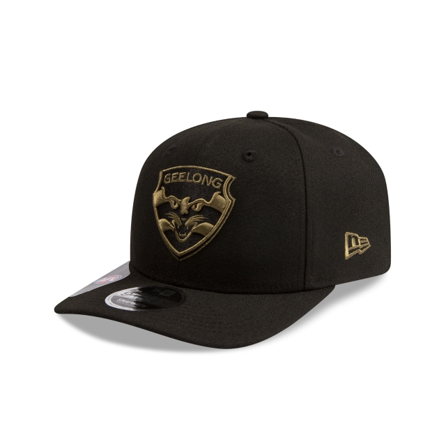 Geelong Cats Black Olive 9fifty Pre-curved Snapback | New Era Cap