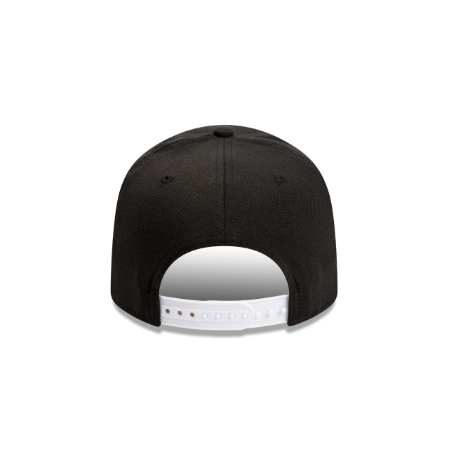 Chicago Bulls Black And White 9fifty Stretch Snapback | Chicago Bulls Basketball Caps | New Era Cap