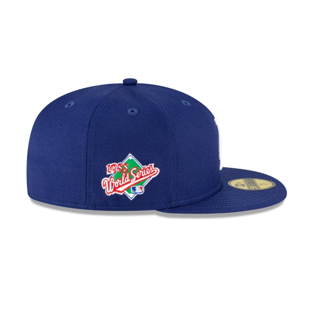 Los Angeles Dodgers World Series Side Patch 59FIFTY Fitted | Los Angeles Dodgers Hats | New Era Cap