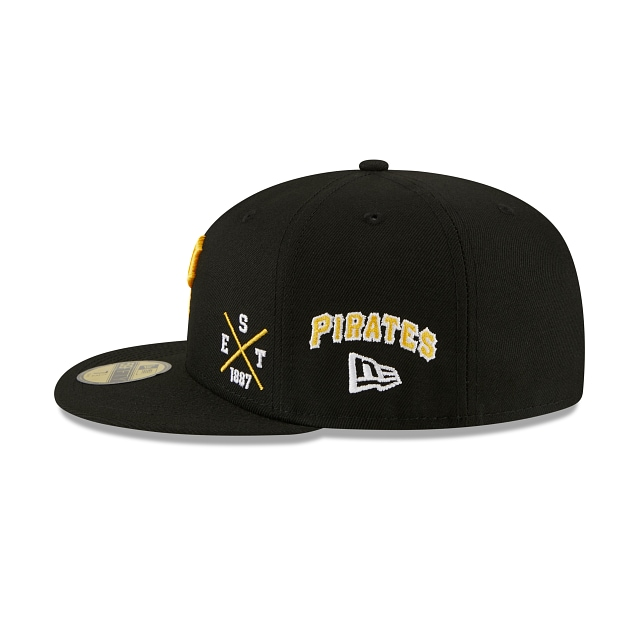 Pittsburg Pirates Multi Patch Official Team Colours 59FIFTY Fitted | Pittsburgh Pirates Hats | New Era Cap
