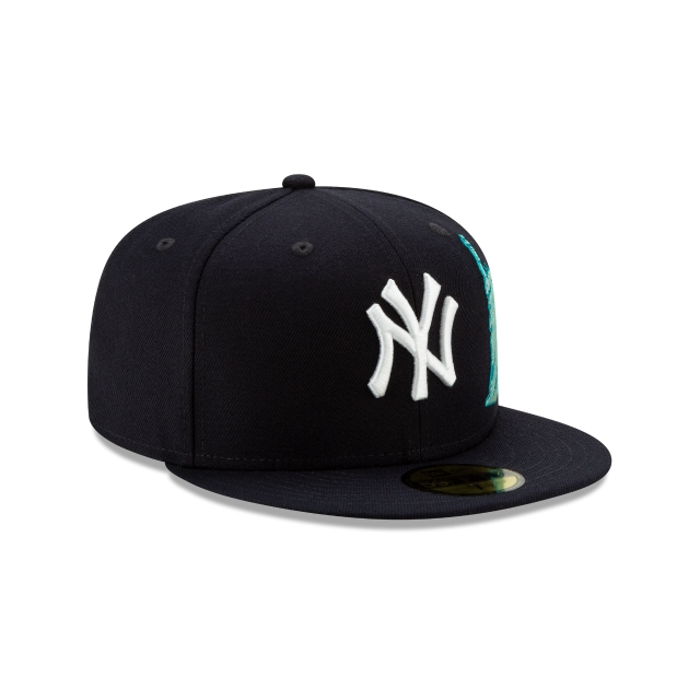 New York Yankees Navy Team Describe 59fifty Fitted | New York Yankees Baseball Caps | New Era Cap