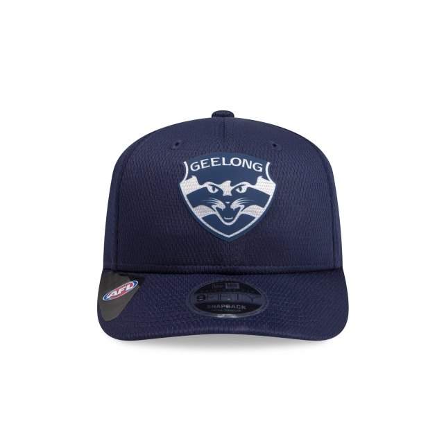 Geelong Cats Navy Mesh 9FIFTY Pre-curved Snapback | Geelong Cats Hats | New Era Cap