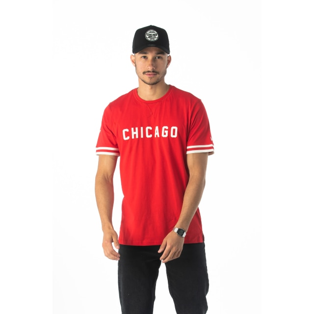 Nba Wordmark Chicago Bulls Red T-shirt | New Era Cap