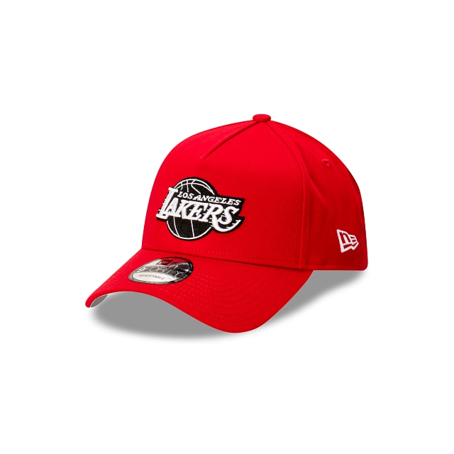 Los Angeles Lakers Scarlet 9FORTY A-frame Snapback | Los Angeles Lakers Hats | New Era Cap