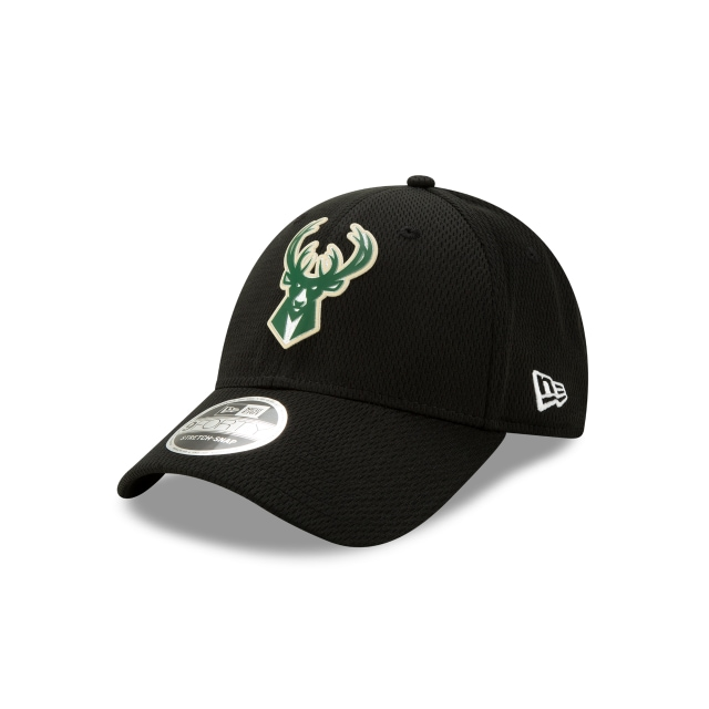 Milwaukee Bucks Nba Authentics Back Half Series Black Stretch Snap 9forty | New Era Cap