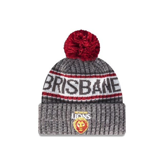 Brisbane Lions Graphite Grey Marl Beanie | Brisbane Lions Hats | New Era Cap