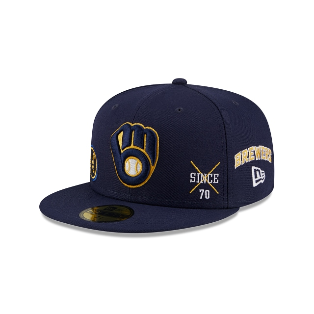 Milwaukee Brewers Multi Patch Official Team Colours 59FIFTY Fitted | Milwaukee Brewers Hats | New Era Cap
