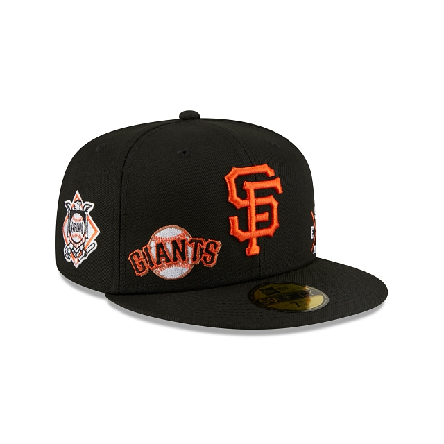 San Francisco Giants Multi Patch Official Team Colours 59FIFTY Fitted | San Diego Padres Hats | New Era Cap