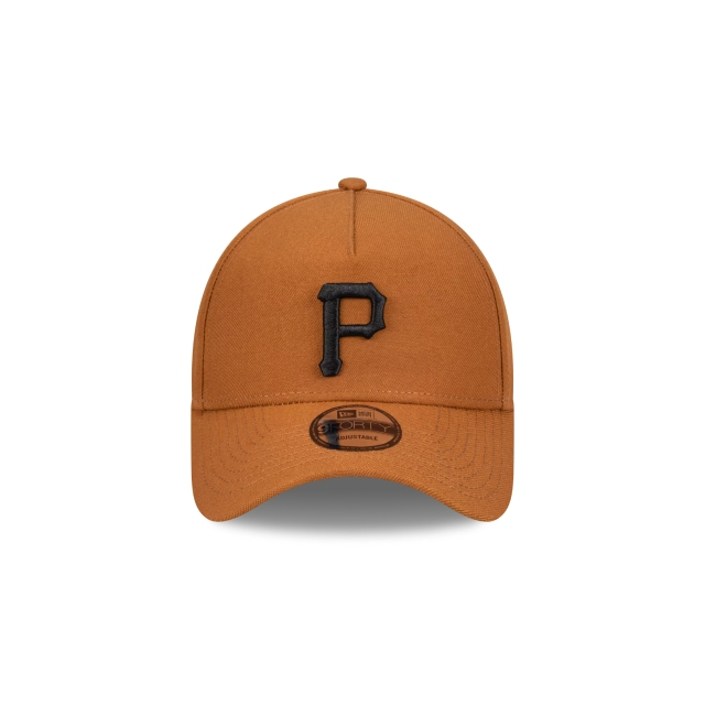 Pittsburgh Pirates Beige And Black 9FORTY A-frame | Pittsburgh Pirates Hats | New Era Cap