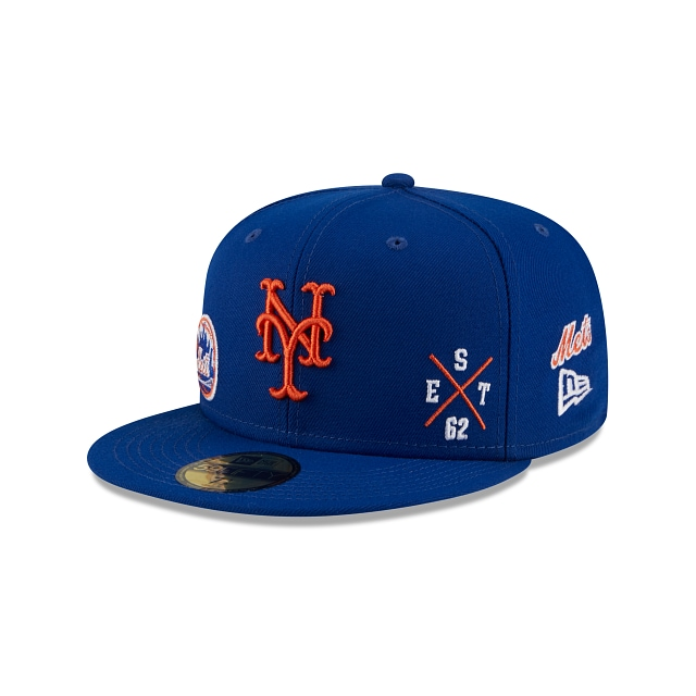 New York Mets Multi Patch Official Team Colours 59FIFTY Fitted | New York Mets Hats | New Era Cap