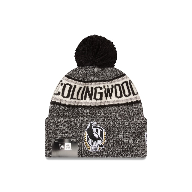 Collingwood Magpies Authentic Team Cuff Knit Beanie | Collingwood Magpies Hats | New Era Cap