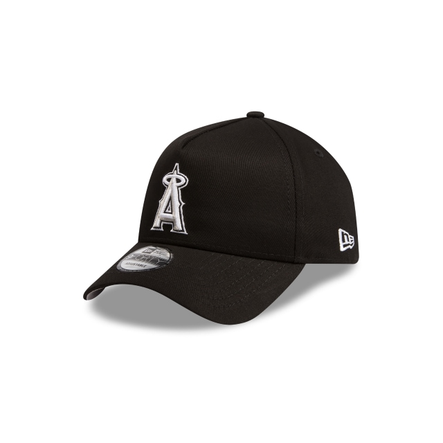 Anaheim Angels Black Grey 9FORTY A-frame | Los Angeles Angels Hats | New Era Cap