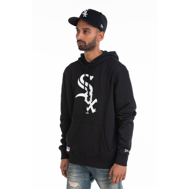 Chicago White Sox Team Essential Pull Over Black Hoodie | New Era Cap