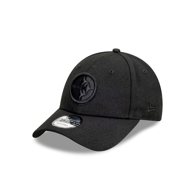 Pittsburgh Steelers Black On Black 9FORTY | Pittsburgh Steelers Hats | New Era Cap