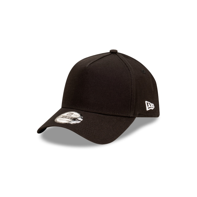 New Era Essentials Black 9FORTY A-frame | New Era Essentials Hats | New Era Cap