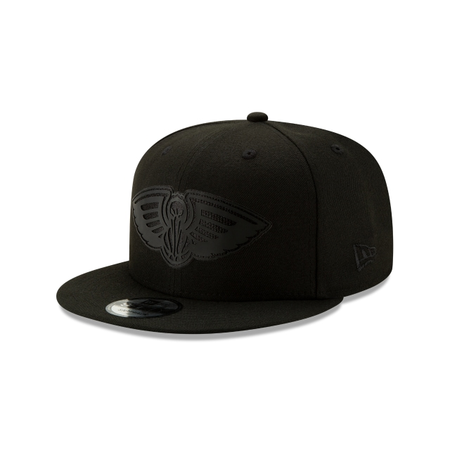 New Orleans Pelicans NBA Authentics Back HaLF Series Black On Black 9FIFTY Snapback | New Orleans Pelicans Hats | New Era Cap