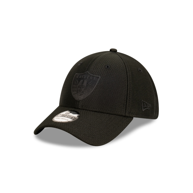 Las Vegas Raiders Black Hex Era 39THIRTY Stretch Fit | Las Vegas Raiders Hats | New Era Cap