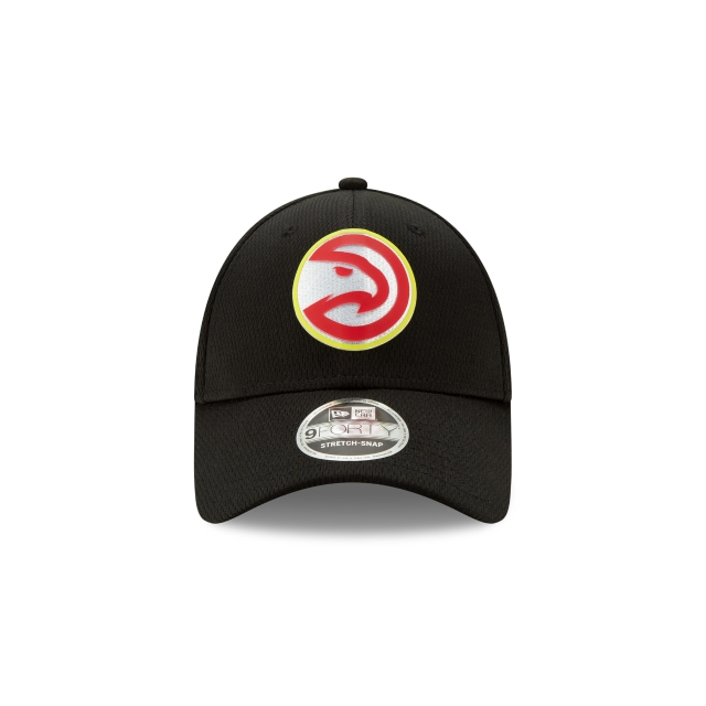 Atlanta Hawks NBA Authentics Back HaLF Series Black Stretch Snap 9FORTY | Atlanta Hawks Hats | New Era Cap