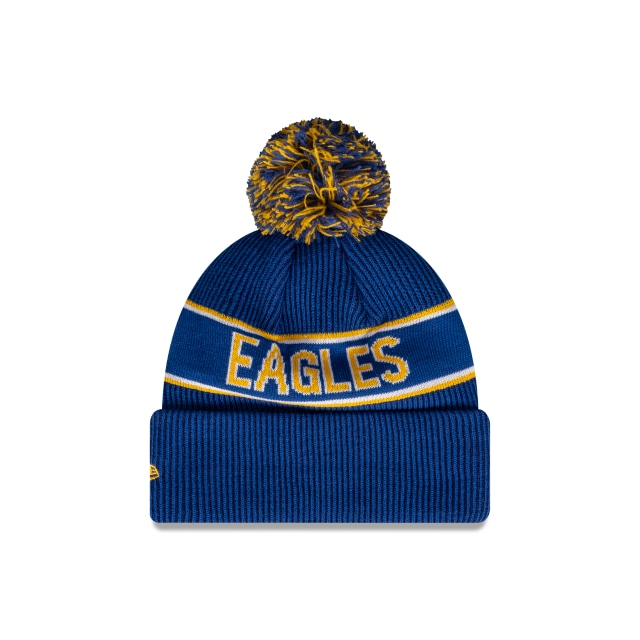 West Coast Eagles Official Team Colours Pom Beanie | West Coast Eagles Hats | New Era Cap