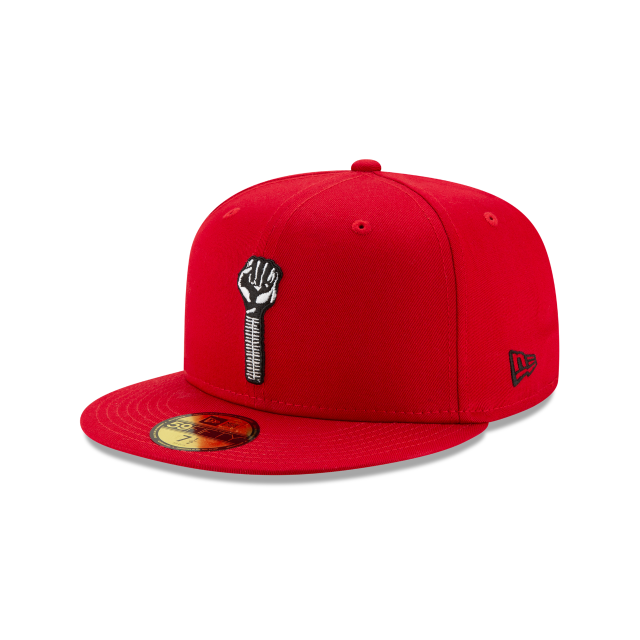 Hardies Hardware Red 59FIFTY Fitted | Hardies Hardware X Tyshawn Jones Hats | New Era Cap