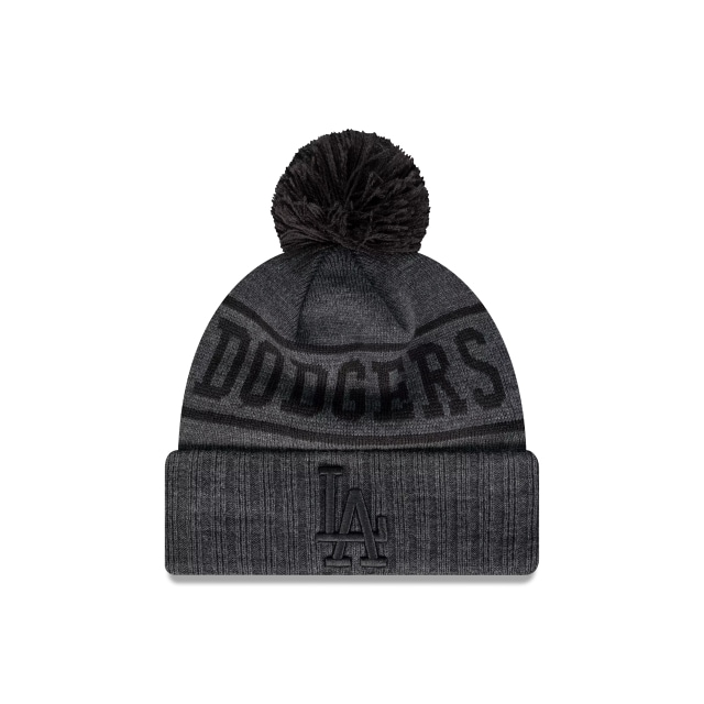 Los Angeles Dodgers Black Out Cuff Knit Beanie | Los Angeles Dodgers Hats | New Era Cap