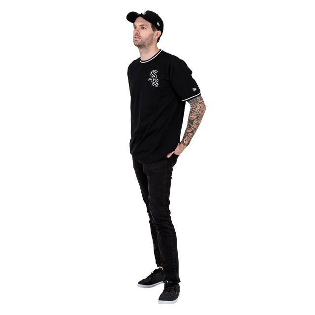 Chicago White Sox Tee With Tipping Detail In Black | Chicago White Sox | New Era Cap