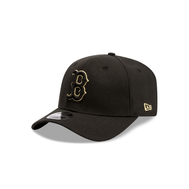 Boston Red Sox Black Gold 9FIFTY Stretch Snapback | Boston Red Sox Hats | New Era Cap