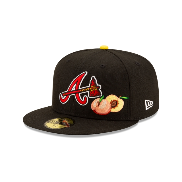 Offset X Atlanta Braves Black 59FIFTY Fitted | Atlanta Braves Hats | New Era Cap