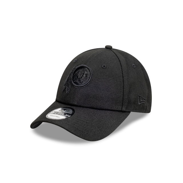 Washington Red Skins Black On Black 9FORTY | Washington Football Team Hats | New Era Cap