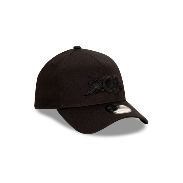 Penrith Panthers Black On Black 9FORTY A-frame | Penrith Panthers Hats | New Era Cap