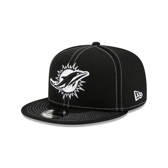 Miami Dolphins Nfl Sideline Road Black 9fifty Snapback | New Era Cap