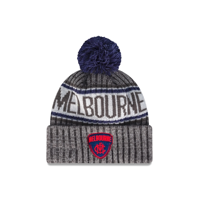 Melbourne Demons Graphite Grey Marl Beanie | Melbourne Demons Hats | New Era Cap