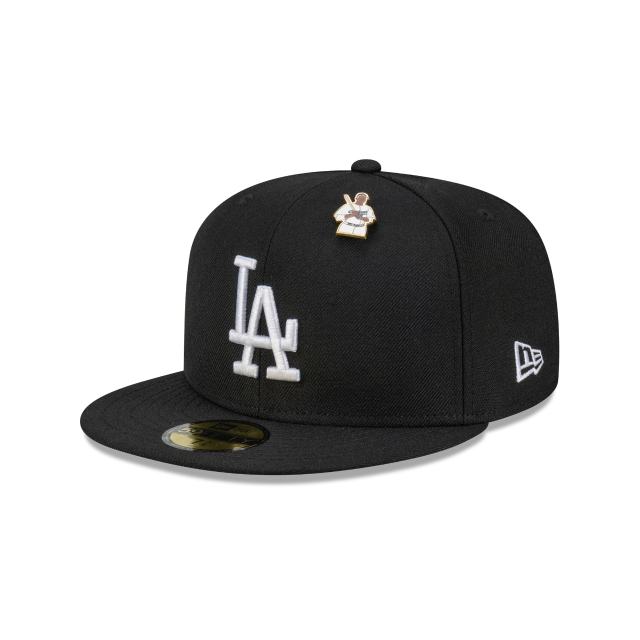 Jackie Robinson X New Era Los Angeles Dodgers Black 59FIFTY Fitted | Los Angeles Dodgers Hats | New Era Cap