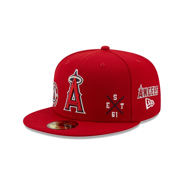 Los Angeles Angels Muti Patch Official Team Colours 59FIFTY Fitted | Arizona Diamondbacks Hats | New Era Cap