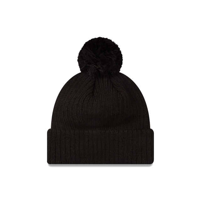 Collingwood Magpies Black On Black Cuff Knit Beanie | Collingwood Magpies Hats | New Era Cap