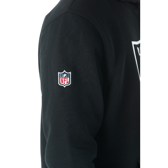 Oakland Raiders Team Essential Pull Over Black Hoodie | Oakland Raiders Football Caps | New Era Cap