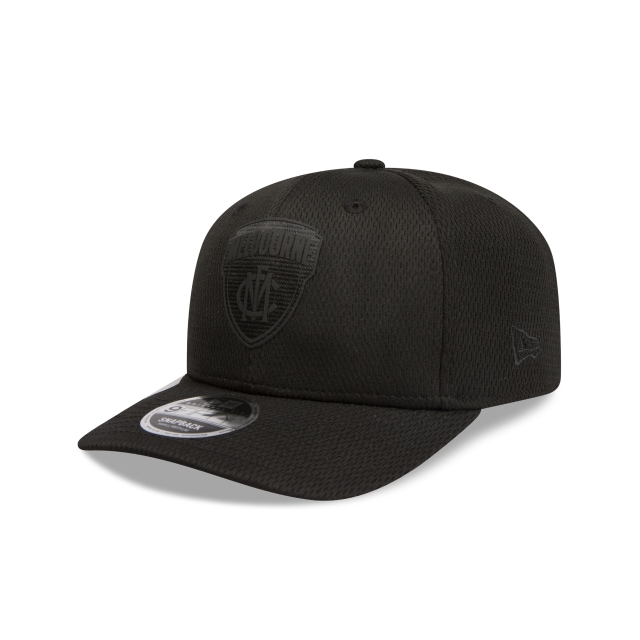 Melbourne Demons Black On Black 9FIFTY Pre-curved Snapback | Melbourne Demons Hats | New Era Cap