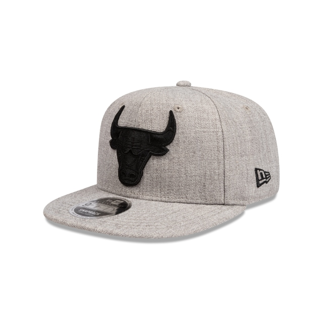 Chicago Bulls Heather And Black Pre-curved Original Fit 9fifty | New Era Cap