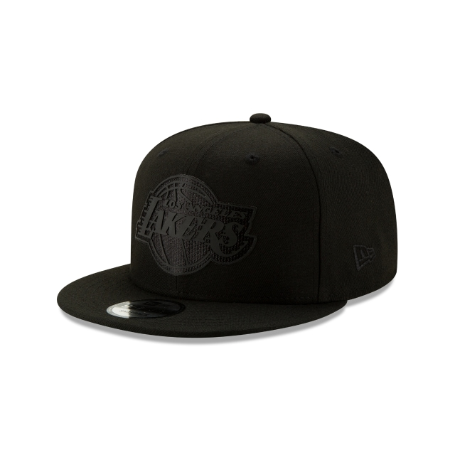 Los Angeles Lakers Nba Authentics Back Half Series Black On Black 9fifty Snapback | New Era Cap