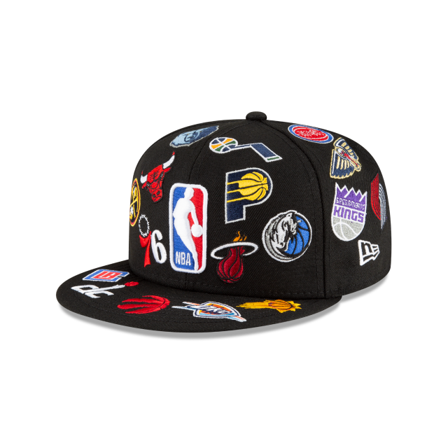 NBA All Over Logo 59FIFTY Fitted | New Era 100th Anniversary Hats | New Era Cap