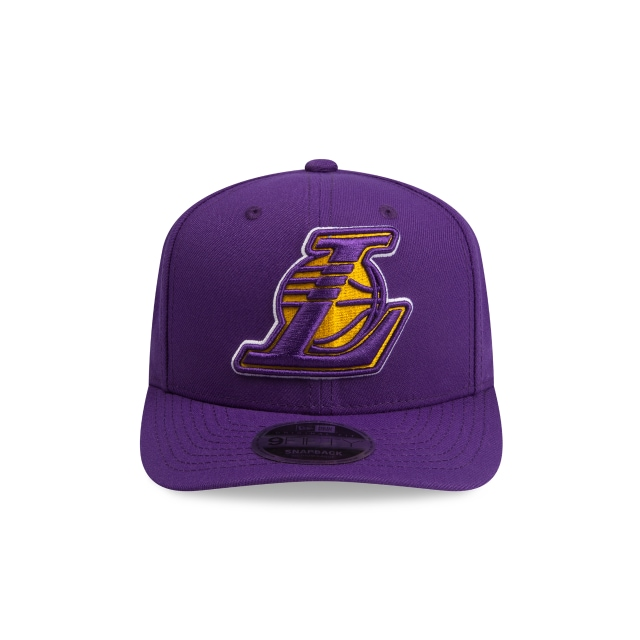 Los Angeles Lakers Purple 9FIFTY Original Fit Pre-curved Snapback | Los Angeles Lakers Hats | New Era Cap