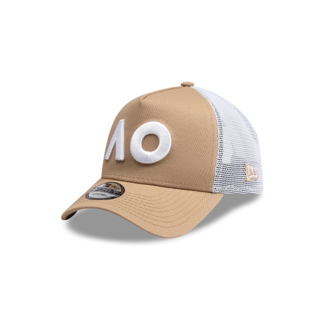 Australian Open Khaki 9forty A-frame Trucker | New Era Cap