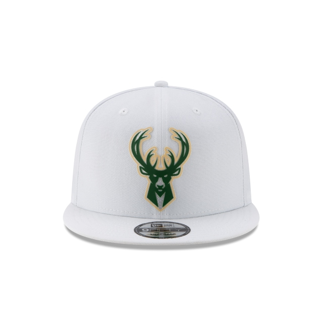 Milwaukee Bucks NBA Authentics Back HaLF Series White 9FIFTY Snapback | Milwaukee Bucks Hats | New Era Cap
