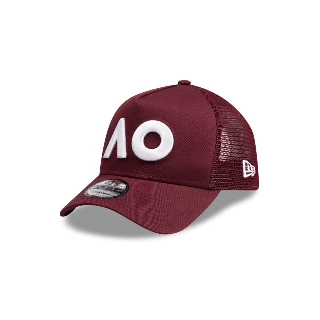 Australian Open Maroon 9forty A-frame Trucker | New Era Cap
