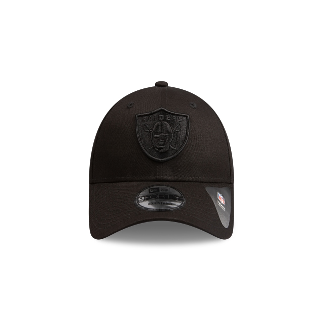 Oakland Raiders Black On Black 9forty | Las Vegas Raiders Football Caps | New Era Cap