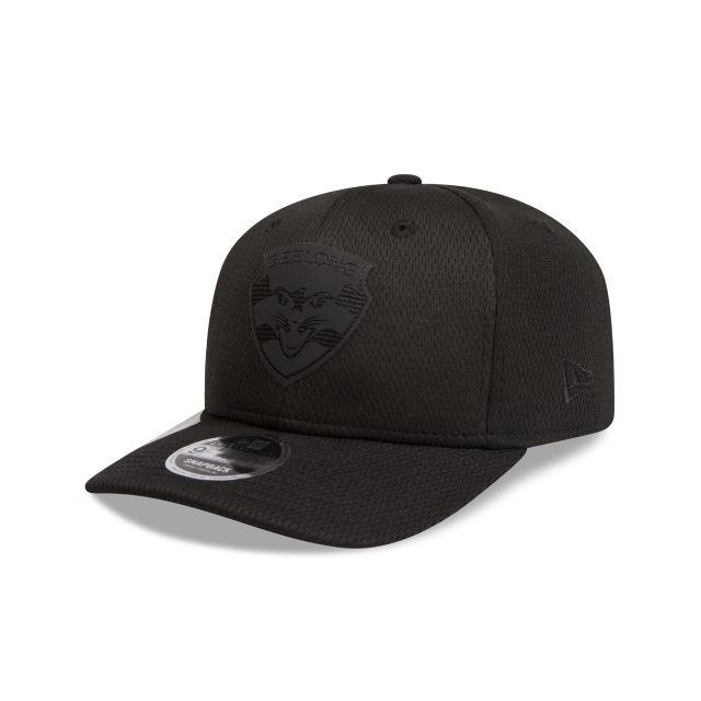Geelong Cats Black On Black 9fifty Pre-curved Snapback | New Era Cap