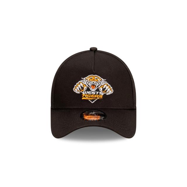 Wests Tigers Black 9FORTY A-frame | Wests Tigers Hats | New Era Cap